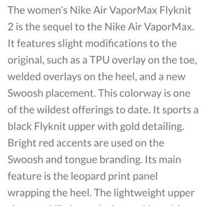 Nike Shoes - NWOT! Nike Women's Air Vapor Max Flyknit 2 Black
